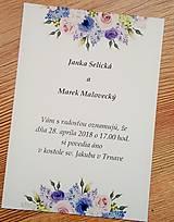 Papiernictvo - svadobné oznámenie lila - 9097301_
