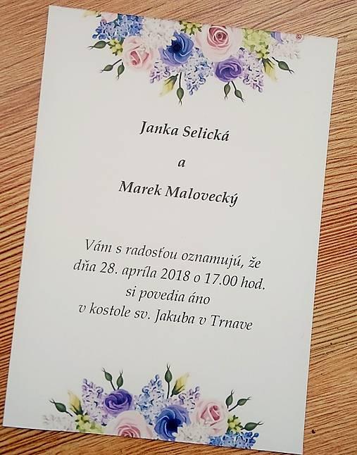 svadobné oznámenie lila