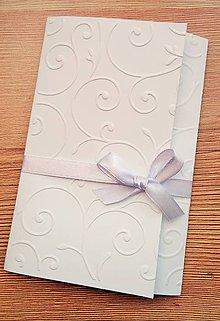Papiernictvo - svadobné oznámenie v obale - 9098060_