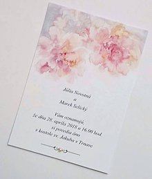 Papiernictvo - svadobné oznámenie watercolor - 9098121_