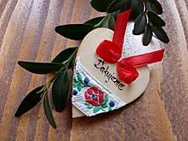 Darčeky pre svadobčanov - Drevené magnetky folklórne ďakujeme - 9097287_