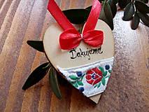 Darčeky pre svadobčanov - Drevené magnetky folklórne ďakujeme - 9097289_