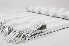 Úžitkový textil - Háčkovaný koberec so strapcami - scandinavian living - 9097051_
