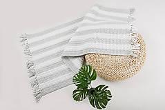 Úžitkový textil - Háčkovaný koberec so strapcami - scandinavian living - 9097055_