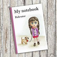 Papiernictvo - Venčenie psa - dievčenský zápisník (1) - 9099306_