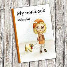 Papiernictvo - Venčenie psa - dievčenský zápisník (2) - 9100334_