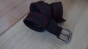 """Doplnky - Opasok prešívaný """"Black&Red"""" - 9097662_"""