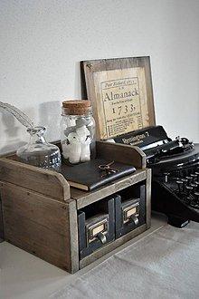 Nábytok - Vintage sada na pracovný stôl - 9099005_