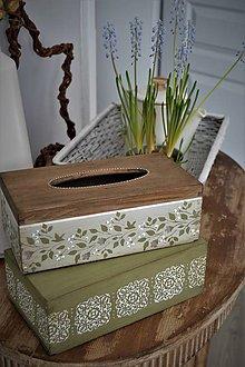 Krabičky - Krabičky na vreckovky v jarných farbách - 9099165_