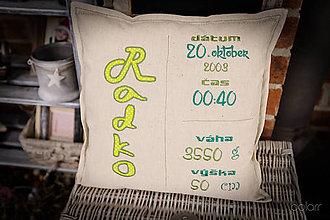 """Úžitkový textil - Vankúšik """" Radko """" - 9105154_"""