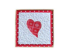 Úžitkový textil - Prestieranie Valentínske malé 2 - 9104032_