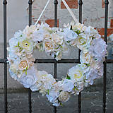 Dekoračné srdce na svadbu