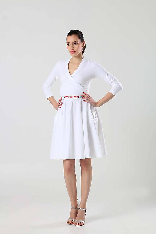 83768e4dc5f1 Šaty Cross s kruhovou sukňou   ZuzanaZachar - SAShE.sk - Handmade Šaty