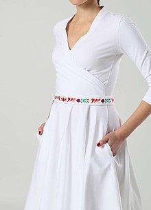 Opasky - Opasok pestrofarebný tenší biely - 9101185_
