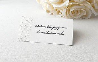 Papiernictvo - Matné pozvánky s embosovaným vzorom - 9101814_