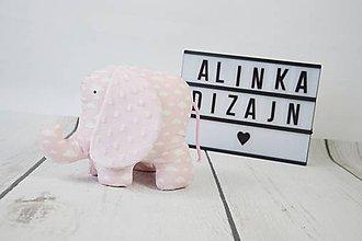 Hračky - Mäkučký sloník ružové obláčiky - 9100853_