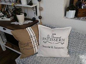 """Úžitkový textil - Vankúš """"Chocolat & sucereries"""" - 9102146_"""