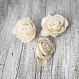 Polotovary - Šólové ruže krémové - 9104492_