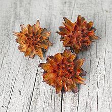 Iný materiál - Oranžové kvety Plumosum - 9104542_