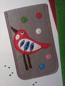 Na mobil - Vtáčatkový... obal na mobil či okuliare - 9105991_