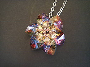 Náhrdelníky - Náhrdelník Flower-Crystal/rhódium - 9103858_