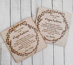 Darčeky pre svadobčanov - Poďakovanie pre rodičov - 9101542_