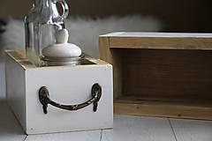 Nábytok - Debničky s vintage úchytom - 9102817_