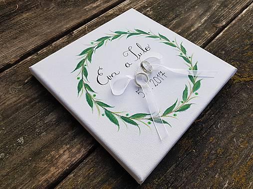 Prstene - Svadobný vankúšik...List - 9100699_