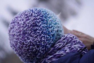 Čiapky - farby ľadu:) čiapka - 9101452_