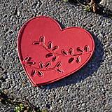 Materiál ručne robený - Výrez srdce 2v1 - 9104809_