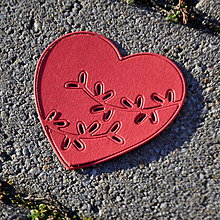 Materiál ručne robený - Výrez srdce 2v1 (Ružová) - 9104809_