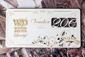 Darčekové poukážky - Firemné vouchery - 9101470_