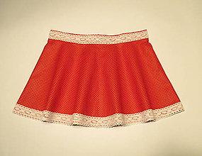 5ee2221d1566 oranžovo medené slávnostné dievčenské šaty veľkosť 140. Detské šaty 20.  Detské oblečenie - detská točivá suknička s čipkou (dĺžka 25 cm) - 9104645