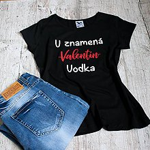Tričká - Dámske tričko Vodka - 9104668_