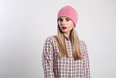 Čiapky - Růžová čepice - 9100817_