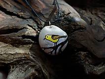 Náhrdelníky - Žltý vtáčik na konáriku - ZĽAVA z 8 € - 9101585_