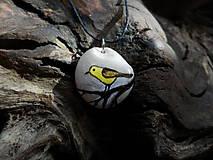 Náhrdelníky - Žltý vtáčik na konáriku - ZĽAVA z 8 € - 9101587_