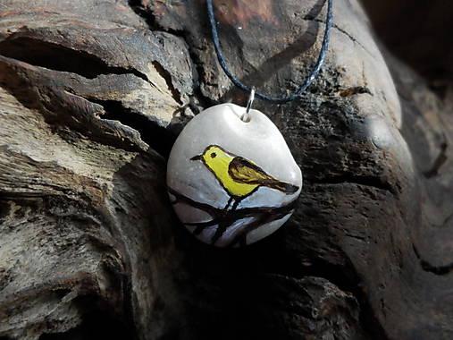 Žltý vtáčik na konáriku - ZĽAVA z 8 €