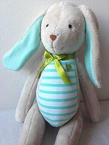 Hračky - Zajačik s možnosťou vyšitia vlasného mena - 9102150_