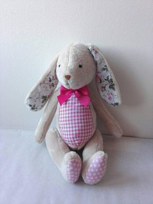 Hračky - Zajačik ružový - 9102257_