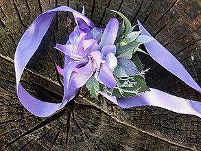 Náramky - náramek s fialovými květy - 9105786_