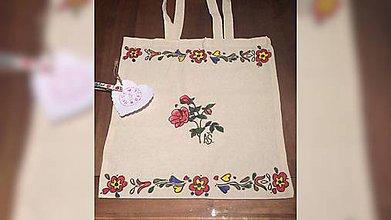Nákupné tašky - ♥ Plátená, ručne maľovaná taška ♥ - 9104625_
