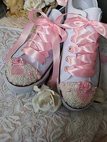 Obuv - Svadobné tenisky - ružová - 9102204_