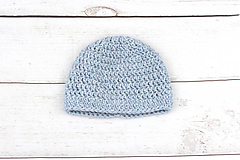 Detské čiapky - Modrá čiapka zimná EXCLUSIVE FINE - 9101968_