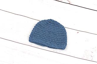Detské čiapky - Tmavomodrá čiapka ALPACA - 9101612_