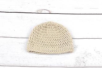 Detské čiapky - Béžová čiapka zimná EXCLUSIVE FINE - 9101891_