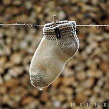 Obuv - Teniskové ponožky z ovčej vlny (sivobiela) - 9103618_