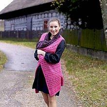 Iné oblečenie - Obojstranná bavlnená vesta ČIČMANY - rôzne farby, univerzálna veľkosť (Žlto-čierna) - 9105350_