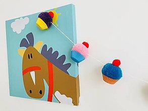 Detské doplnky - Girlanda mini muffins - 9101739_