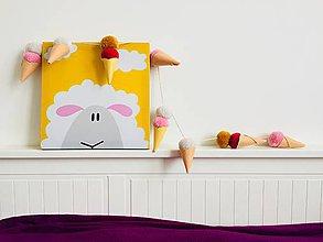 Detské doplnky - Girlanda mini Ice cream - 9101784_